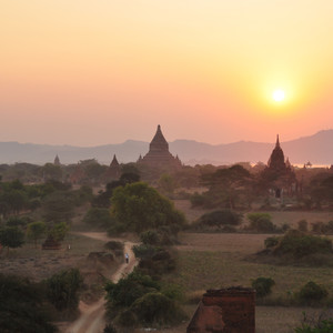 Мьянма.ч.2.Баган.Долина 1000 пагод