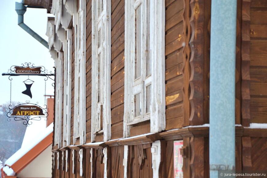 Этот деревянный дом редкое исключение из правила.Его арендуют предприниматели.