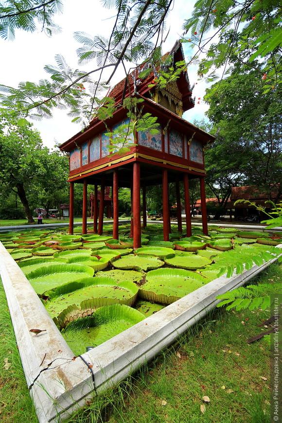 Приехали в Ancient city — музей под открытым небом Mueang Boran(Мыанг Боран) , что в 34 км от Бангкока.  www.ancientcity.com   Билет 400 бат, входит карта и велосипед. А можно еще за 300 бат взять электромобиль с англоговорящим гидом. Вы будете с ветерком кататься по парку и останавливаться в нужных местах. Так мы и сделали! Но в таком случае весь парк более подробно вам посмотреть не удастся. Все же вело прогулка была бы более полной. Но мы довольны все равно!