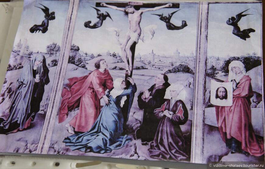 Палехские мастера в XIX веке расписывали не только доски. Первый опыт монументальной живописи - это роспись вышеупомянутого сельского Крестовоздвиженского храма.