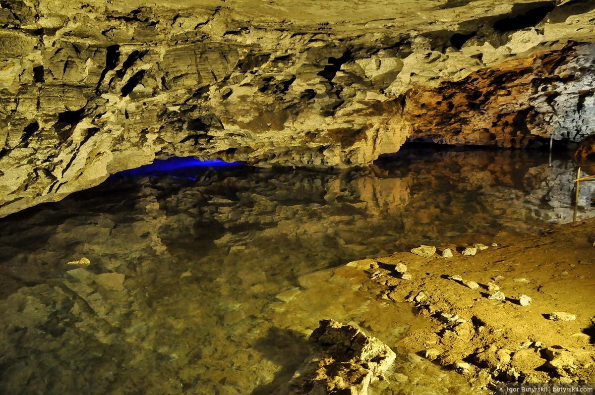 31. Угадать глубину просто нереально, где-то полметра, а где-то все три!, Кунгур — Ледяные пещеры