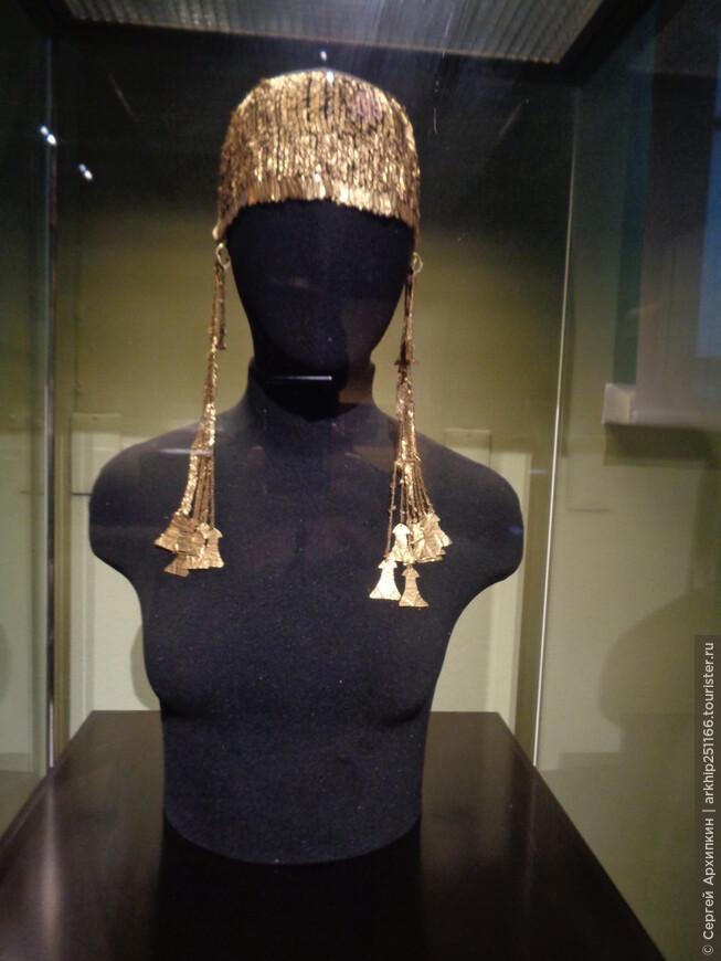 Диадема лента -налобная - золото Трои