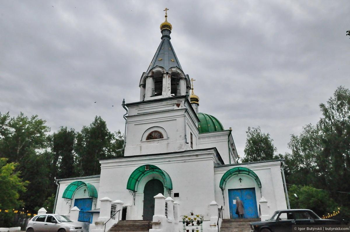 36. Всехсвятская церковь, находящаяся на окраине города, была заложена в 1844 году., Кунгур